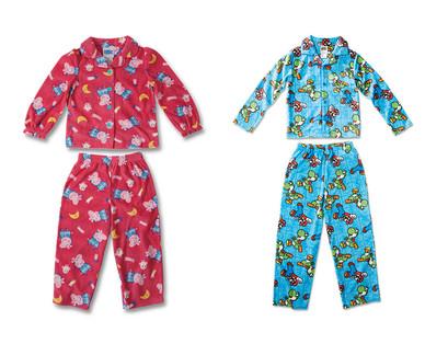 Children's Licensed Fleece Pajama Set View 3