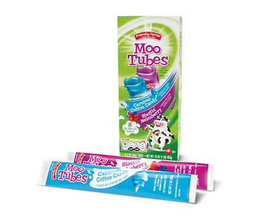 Friendly Farms Moo Tubes Carnival Cotton Candy or Blastin' Melonberry