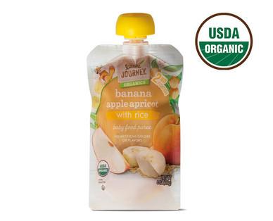 Little Journey Banana Apple Apricot Rice Baby Food Puree
