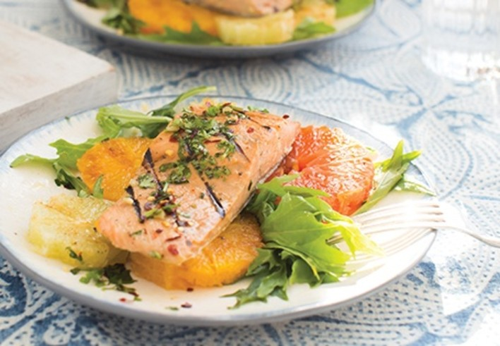 Grilled Citrus and Herb Salmon