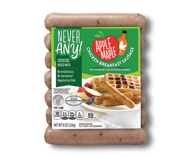Never Any! Apple Maple Chicken Breakfast Sausage