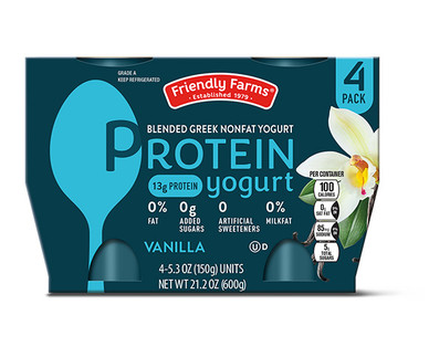 Friendly Farms Vanilla Protein Yogurt 4 Pack