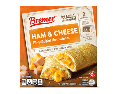 Bremer Stuffed Sandwiches Ham and Cheese