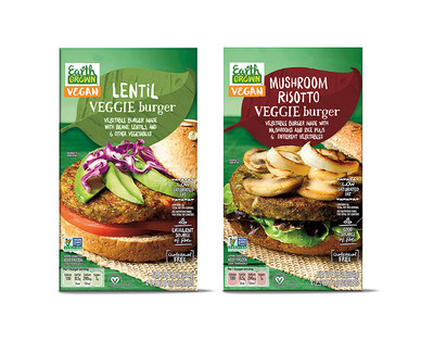 Earth Grown Lentil or Mushroom Risotto Veggie Burger
