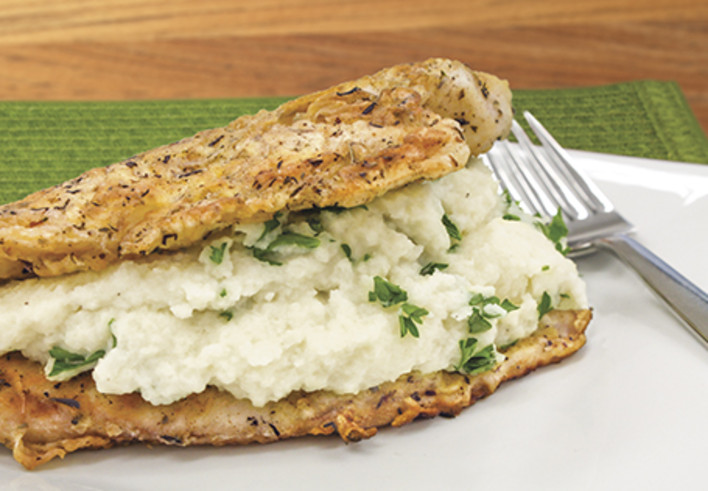 Double Stack Tilapia with Cauliflower Mash