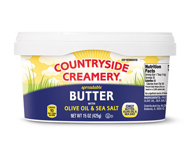 Countryside Creamery Spreadable Butter With Olive Oil Sea Salt