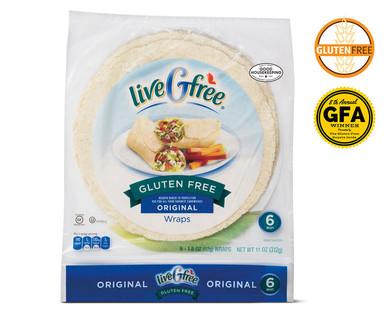 liveGfree Gluten Free Plain Wraps