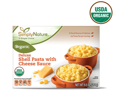 SimplyNature Organic Deluxe Shells and Cheese