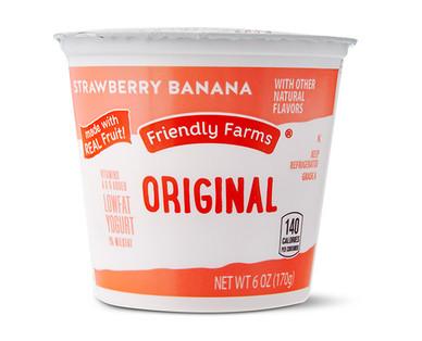 Friendly Farms Lowfat Strawberry Banana Yogurt