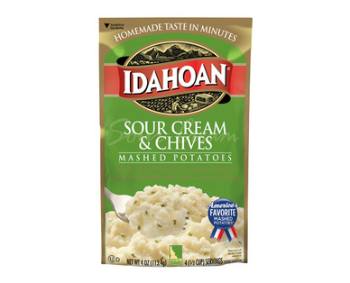 Idahoan Sour Cream and Chives Flavored Mashed Potatoes