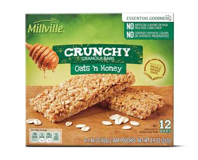 Millville Crunchy Granola Bars - Oats and Honey
