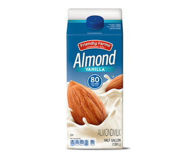 Friendly Farms Almond Milk, Vanilla