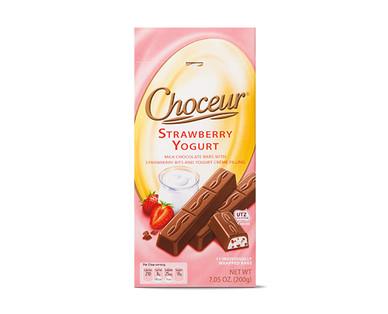 Choceur Créme Filled Mini Chocolate Bars - Strawberry Yogurt