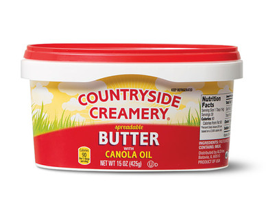 Countryside Creamery Spreadable Butter With Canola Oil