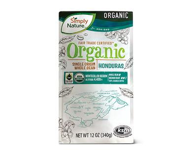 Simply Nature Organic Single Origin Whole Bean Honduras Coffee