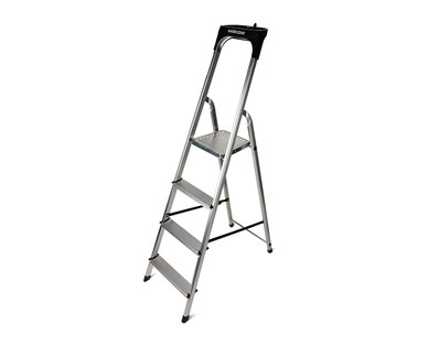 WORKZONE 4-Step Aluminum Ladder View 1