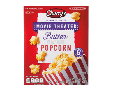 Clancy's Movie Theater Butter Microwave Popcorn