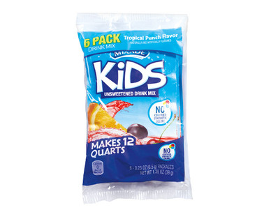 Mixade 6ct Kids Drink Tropical Punch Mix Packets