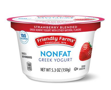 Friendly Farms Strawberry Blended Nonfat Greek Yogurt
