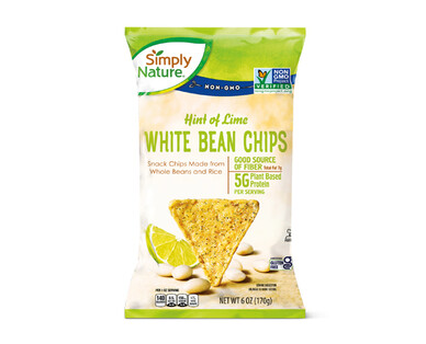 Simply Nature Hint of Lime White Bean Chips