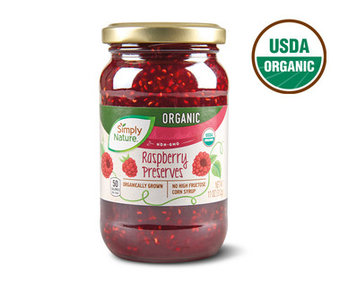 Simply Nature Organic Raspberry Preserves