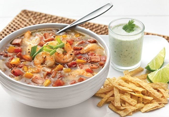 Kielbasa, Shrimp & Black Bean Soup