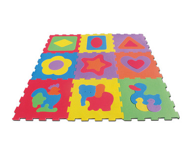 "Little Journey Alphabet or 17"" Shapes Foam Mat View 4"