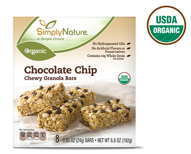 SimplyNature Organic Chocolate Chip Chewy Granola Bars
