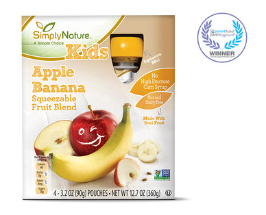 SimplyNature Apple BananaFruit Squeezies
