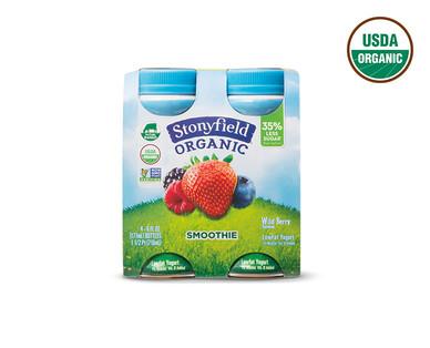 Stonyfield Organic Strawberry or Wildberry Yogurt Smoothies View 2