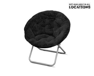 SOHL Furniture Faux Fur, Quilted or Mongolian Saucer Chair View 5