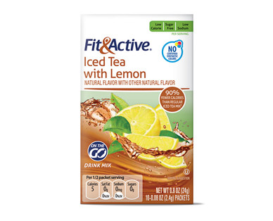 Fit & Active Single Serve Iced Tea with Lemon Drink Mix