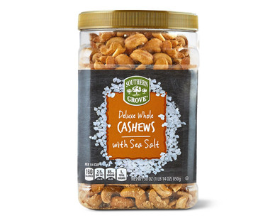 Southern Grove Deluxe Whole Cashews with Sea Salt