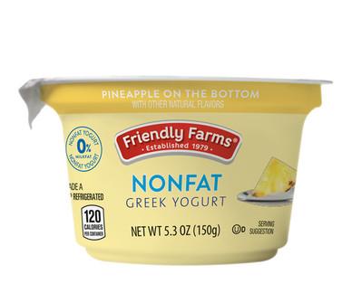 Friendly Farms Pineapple Nonfat Greek Yogurt