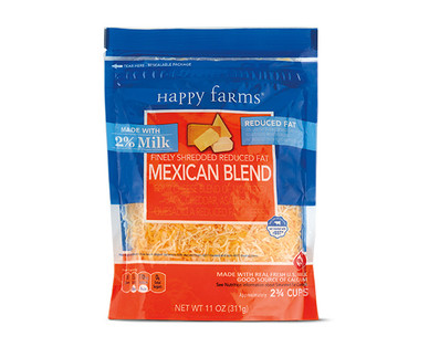 Happy Farms 2% Milk Mexican Blend Shredded Cheese