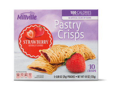 Millville Pastry Crisps - Strawberry