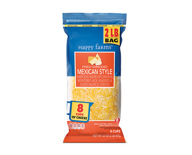 Happy Farms 2 lb. Shredded Mexican Cheese View 1