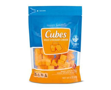 Happy Farms Mild Cheddar Cheese Cubes