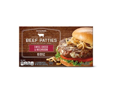 Cattlemen's Ranch Mushroom and Swiss or Black and Bleu Burgers View 1