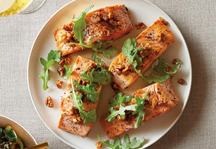 Maple Walnut Crusted Coho Salmon
