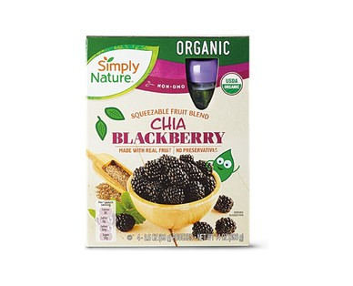 Simply Nature Chia Blackberry or Strawberry Banana Superfruit Squeezies View 1