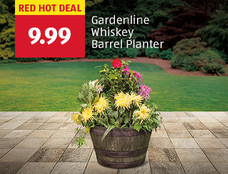 Red hot deal: Gardenline Whiskey Barrel Planter. $9.99. View Details.