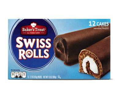 Baker's Treat Swiss Rolls