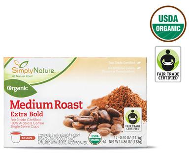 SimplyNature Medium Extra Bold Roast Organic Coffee Cups