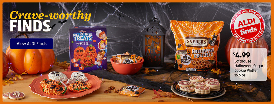 Crave-worthy Finds. Lofthouse Halloween Sugar Cookier Platter: $4.99. View ALDI Finds.