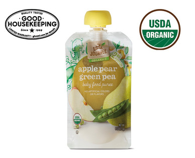 Little Journey Apple Pear Green Pea Baby Food Puree