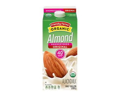 Friendly Farms Organic Original Unsweetened Almondmilk