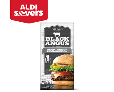 ALDI Savers Cattlemen's Ranch Unseasoned Black Angus Patties