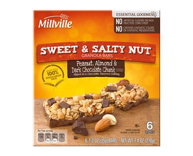 Millville Sweet & Salty Peanut, Almond & Dark Chocolate Chunk Bars