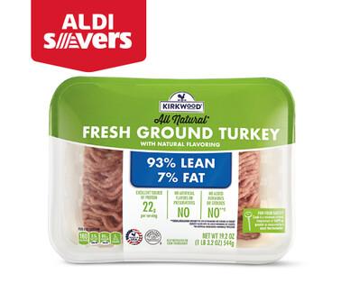 Aldi Savers Kirkwood 93% Lean Fresh Ground Turkey